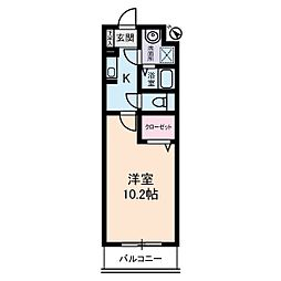 パーシモン・アビデ[2階]の間取り