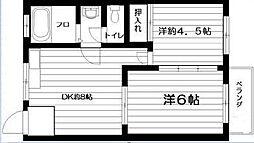 東京都世田谷区世田谷3丁目の賃貸マンションの間取り