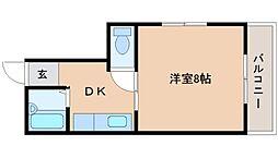 兵庫県神戸市垂水区潮見が丘2丁目の賃貸アパートの間取り