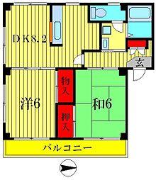 ヴァンベールマンション[2階]の間取り