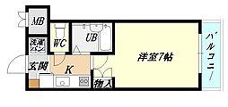兵庫県加古川市平岡町新在家2の賃貸マンションの間取り