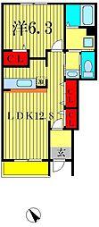 千葉県松戸市八ヶ崎8丁目の賃貸アパートの間取り