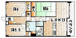 トーカンマンション歯大通り弐番館[9階]の間取り