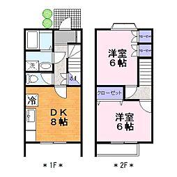 サカエハイツ3A[1階]の間取り