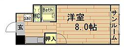 奥内土佐堀東マンション[2階]の間取り