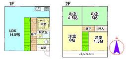 [一戸建] 埼玉県北足立郡伊奈町小針新宿 の賃貸【/】の間取り