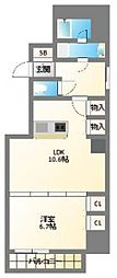 南堀江アパートメントグランデ[8階]の間取り