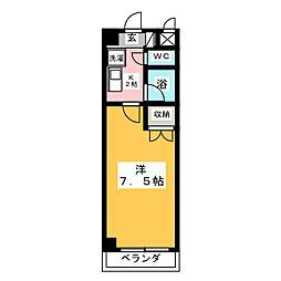 changuII金山[6階]の間取り