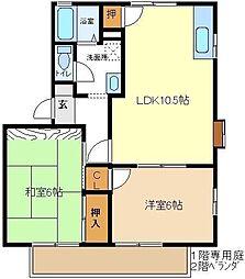 マロンハイツ3 102[1階]の間取り