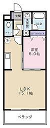 Aiuola Palais[3階]の間取り
