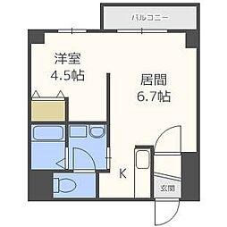 札幌レジデンス桑園[4階]の間取り