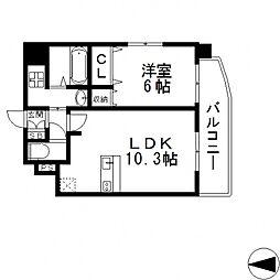 BO BEDRE KOSAKA(ボーベダーコサカ)[203号室号室]の間取り