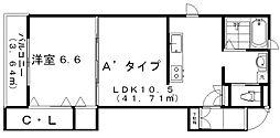 シリウス女池[3階]の間取り