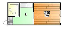 ヤングタウン[2階]の間取り