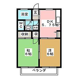 メゾンワイズA[2階]の間取り