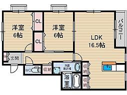 オーク太田1[3階]の間取り