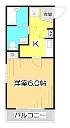 JC Street鶴瀬[1階]の間取り