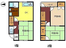 [タウンハウス] 兵庫県姫路市香寺町広瀬 の賃貸【/】の間取り