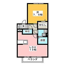 グリーンエクセルIII[1階]の間取り