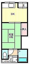 タマエハイツ[2階]の間取り