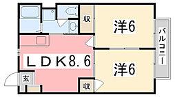ドミール小山[203号室]の間取り