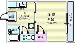 田中ハイツ[202号室]の間取り