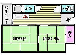 兵庫県神戸市東灘区御影本町1丁目の賃貸マンションの間取り