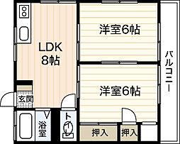 中川アパート[2階]の間取り