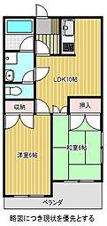 愛知県名古屋市千種区松竹町2丁目の賃貸マンションの間取り