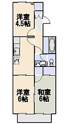 アルジェント藤沢[202号室]の間取り