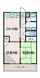 神奈川県相模原市南区相南1丁目の賃貸マンションの間取り