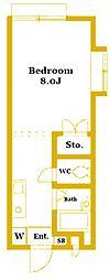 エステートピアフローラ[2階]の間取り