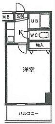 サンシャイン福成[4C号室]の間取り