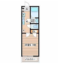 サニープレイス仙台東口 4階1Kの間取り