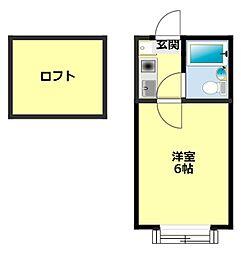 愛知県豊田市明和町3丁目の賃貸アパートの間取り