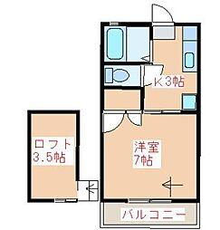 メセナハイツA棟[202号室]の間取り