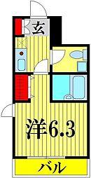 埼玉県越谷市蒲生西町1丁目の賃貸マンションの間取り