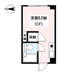神奈川県横浜市鶴見区東寺尾北台の賃貸マンションの間取り