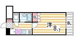 シャンテ三船II[207号室]の間取り