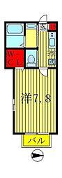 Elvita新松戸[2階]の間取り