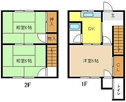 [テラスハウス] 愛知県名古屋市天白区元八事1丁目 の賃貸【/】の間取り