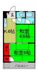 板橋マンション[3階]の間取り