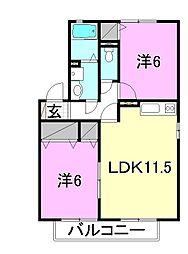 エントピア余戸2[C101 号室号室]の間取り