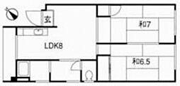 高須賀ビル[3階]の間取り