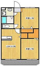 ミルフルール[2階]の間取り
