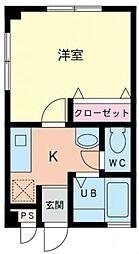 神奈川県相模原市緑区西橋本2丁目の賃貸マンションの間取り