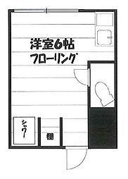 羽沢ハウス[14号号室]の間取り