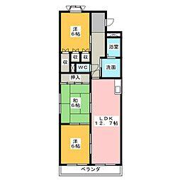 エルグランデ大平[2階]の間取り