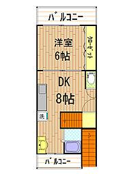 セゾン花隈[5階]の間取り