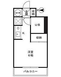 グリーンエイト登戸[305号室]の間取り